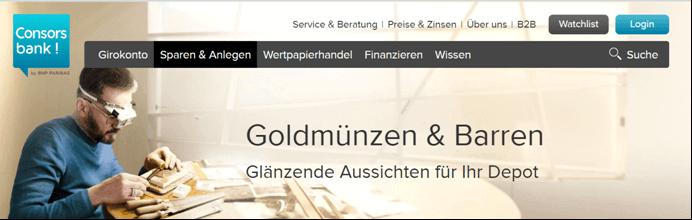 Consorsbank Sparen & Anlegen