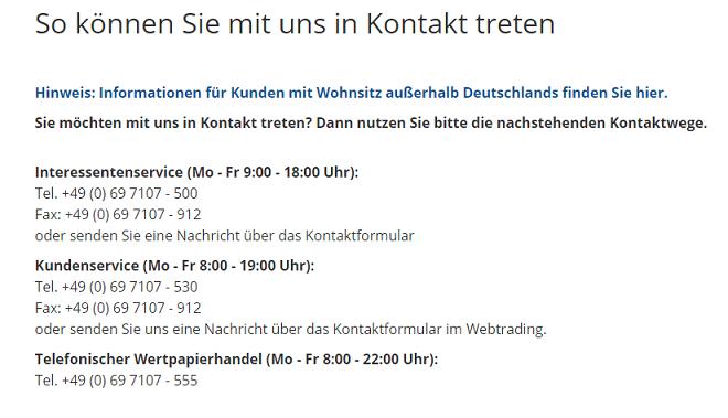 Finanzen.net Kundenhotline