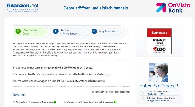 Finanzen.net Depot Eröffnung