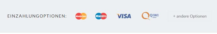 FIBO Group Einzahlungsmethoden Überblick