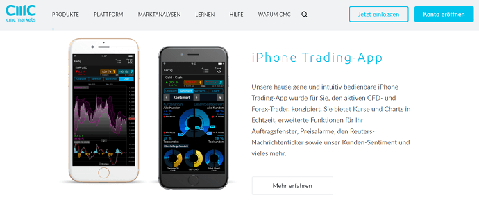 CMC Markets App iOS Android