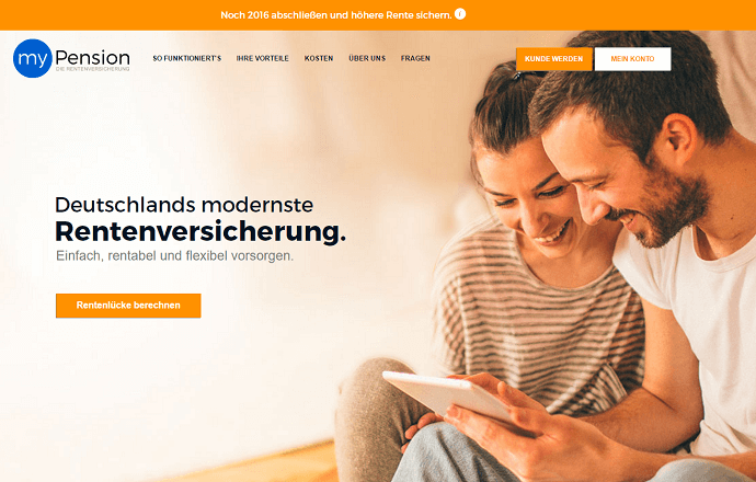 myPension Homepage