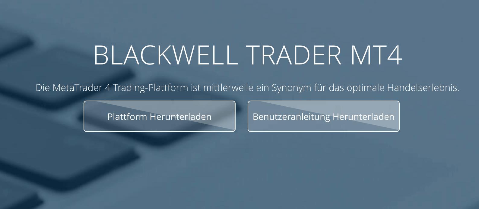 Blackwell bietet Trading mittels MT4