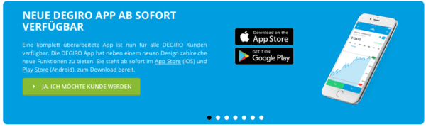 Die DEGIRO App bringt zahlreiche neue Funktionen mit sich