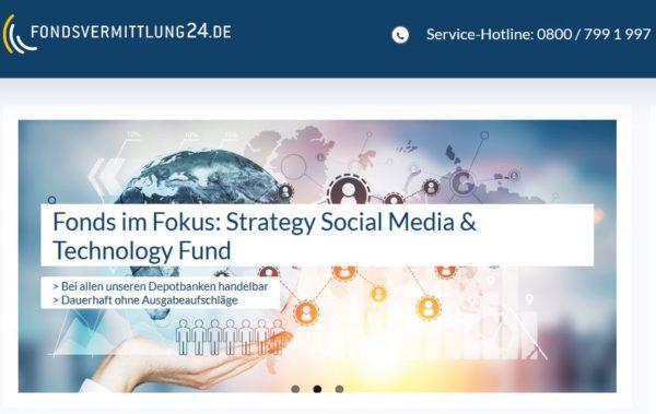 Fondsvermittlung24 Webauftritt