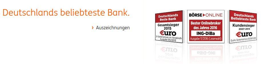 Deutschlands beliebteste Bank erhält auch für sein Depot zahlreiche Auszeichnungen