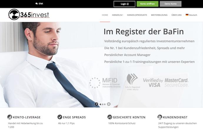 365invest Erfahrungen von brokervergleich.net