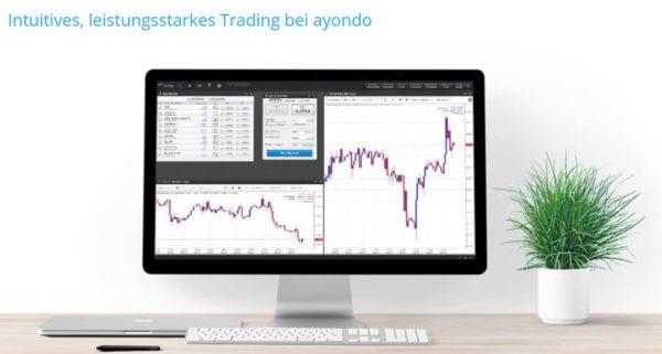 Bei ayondo erwartet Trader eine leistungsstarke Handelsplattform