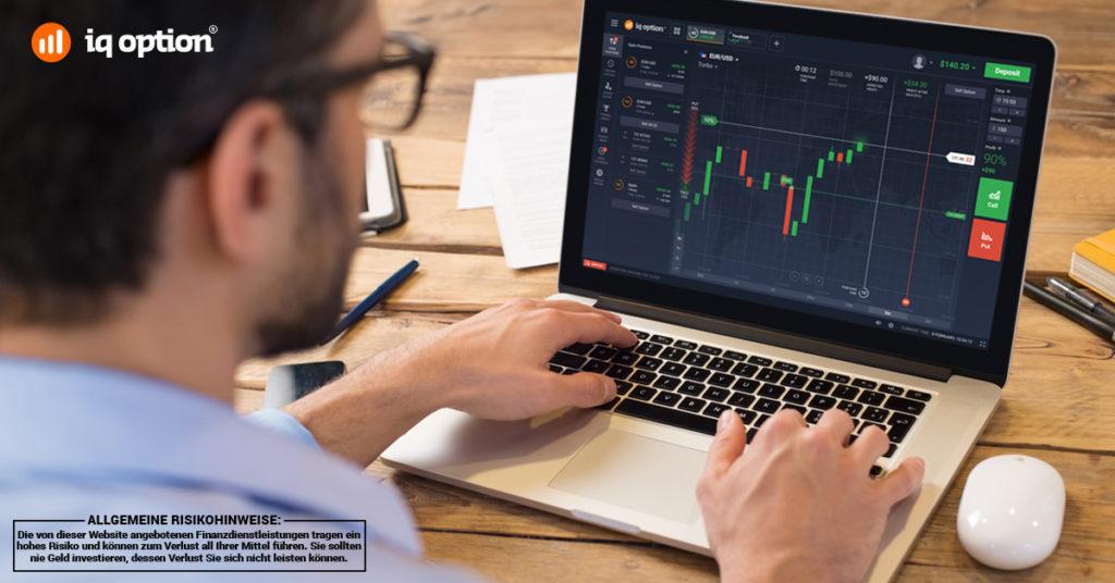 Charts sind übersichtlich und direkt mit dem Handel verbunden.