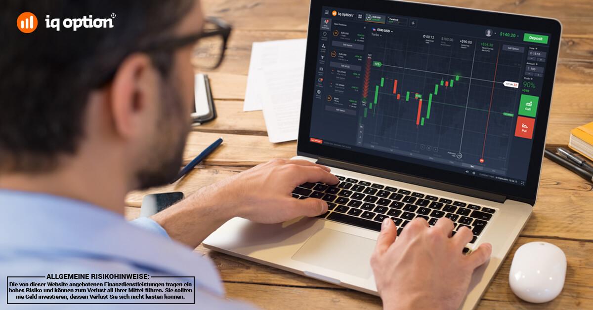Bei IQ Option stehen Tradern eine stabile Handelsplattform und ein Demoaccount zur Verfügung