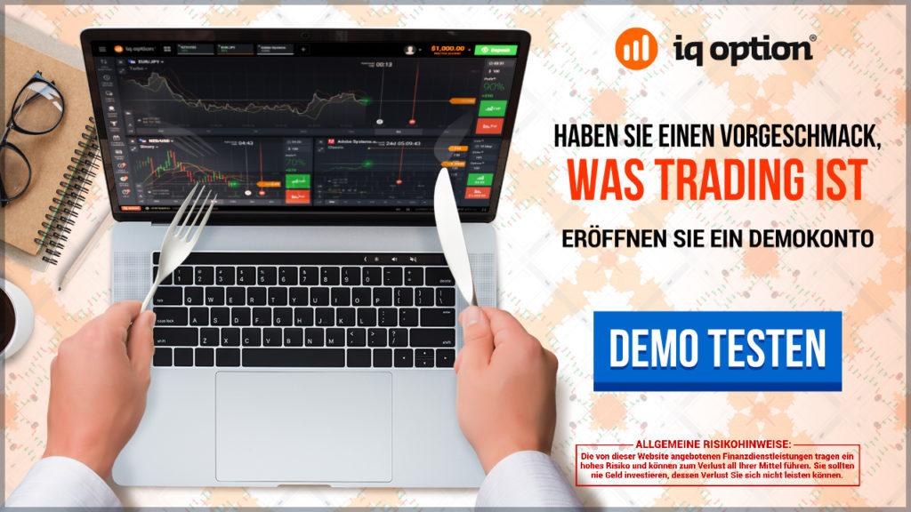 Das IQ Option Demokonto erlaubt es Tradern, den Handel von Binären Optionen kostenlos zu testen.