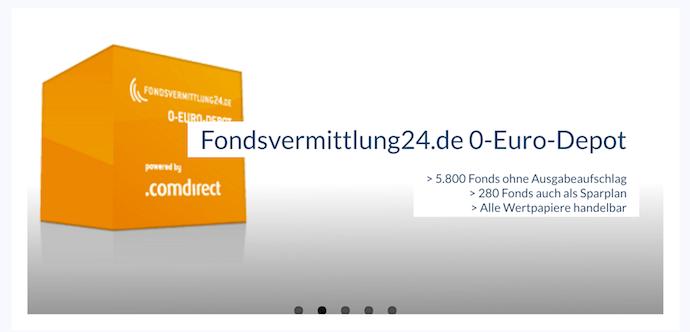 Fondsvermittlung24 Depot