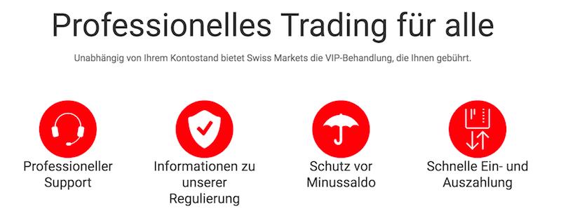 Swiss Markets Vorteile