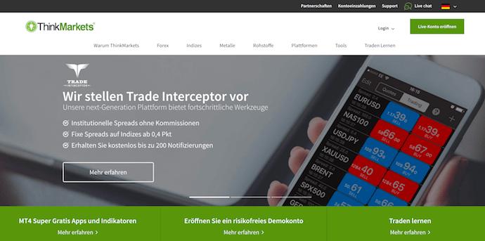 ThinkMarkets Erfahrungen von Brokervergleich.net