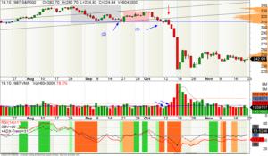 Vollständiger Ablauf des Crashs (Tages-Chart des S&P500)