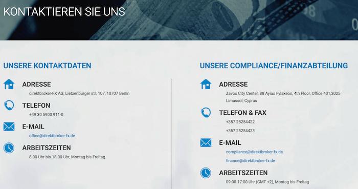 direktbroker-FX Kundensupport