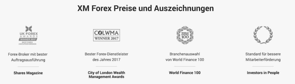 XM Auszeichnungen