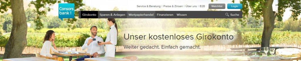 Nachhaltig für den Geldbeutel - das kostenlose GIrokonto der Consorsbank