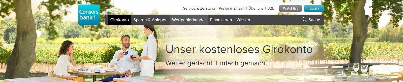 Das kostenlose Girokonto der Consorsbank kann auch online eingerichtet werden