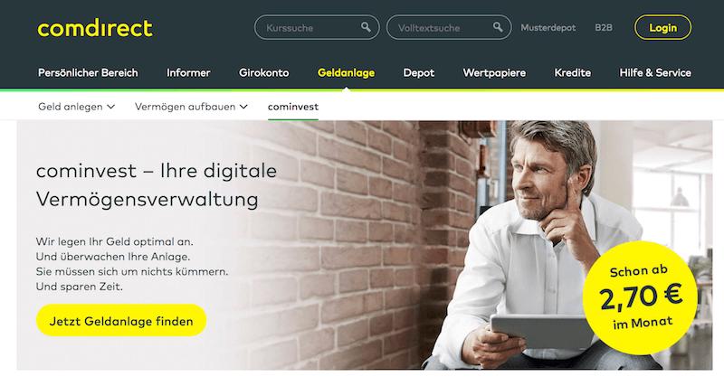 cominvest Robo-Advisor Erfahrungen von Brokervergleich.net
