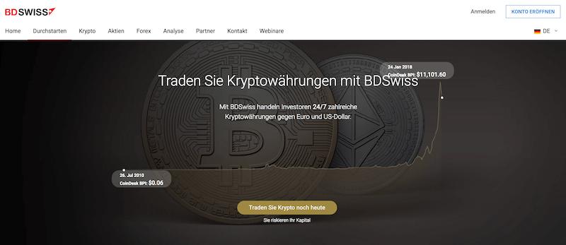 BDSwiss Krypto Erfahrungen von Brokervergleich.net