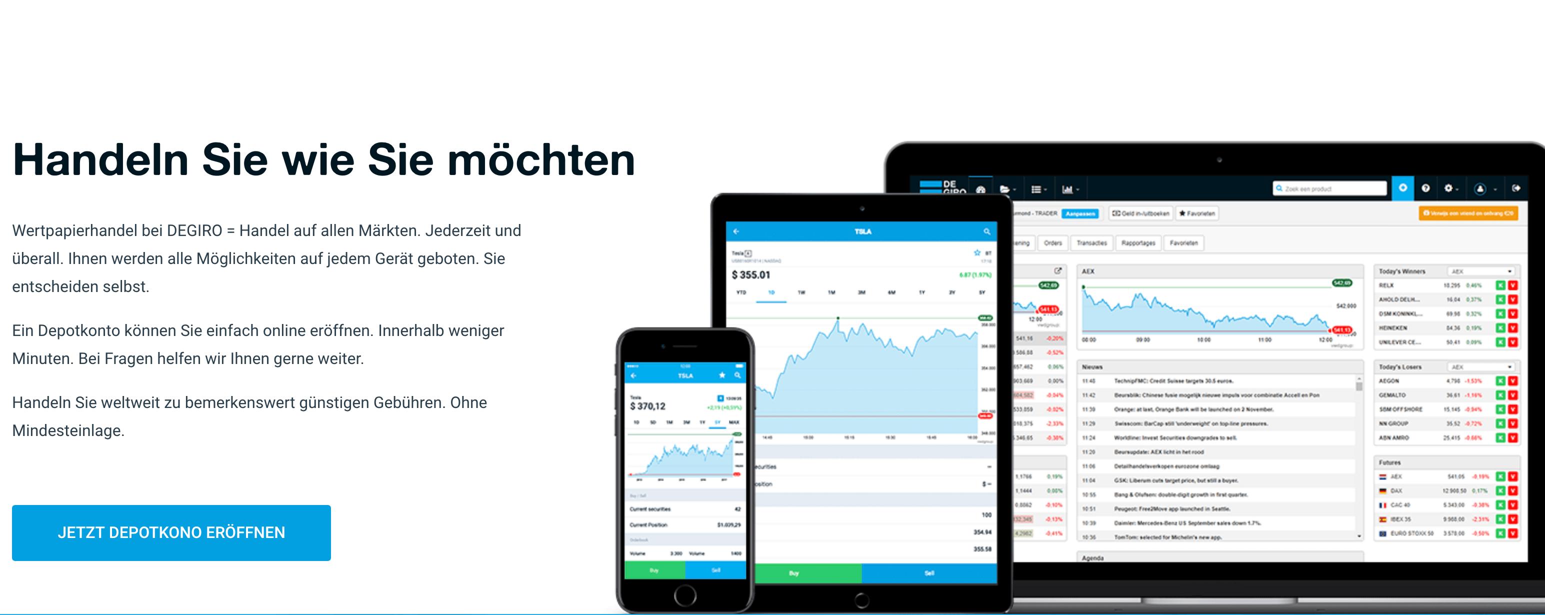 Inzwischen können Trader auch mit mobilen Endgeräten handeln