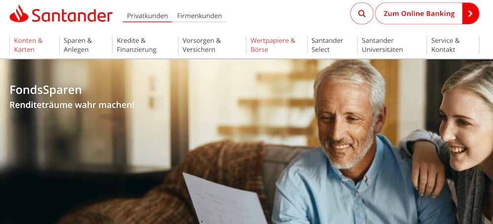 Santander Bank Fondssparplan