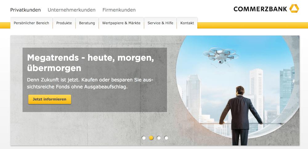 Commerzbank Webseite
