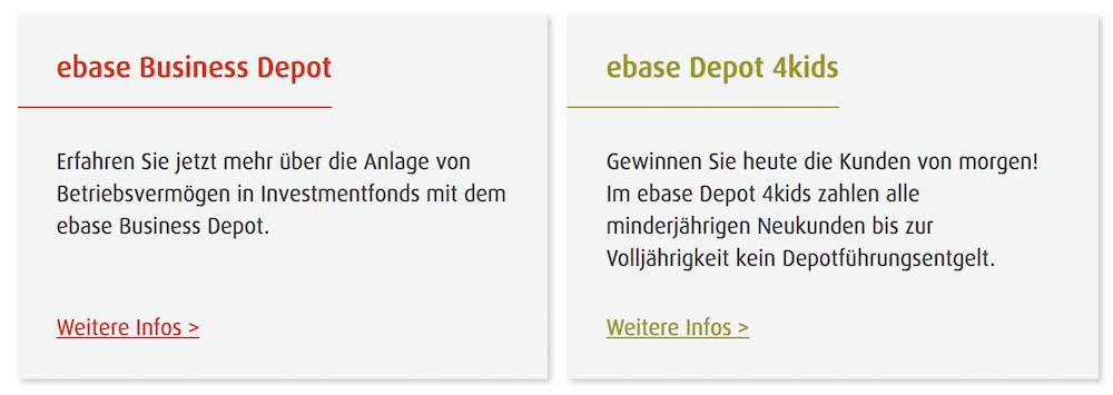 ebase Depot für Kinder