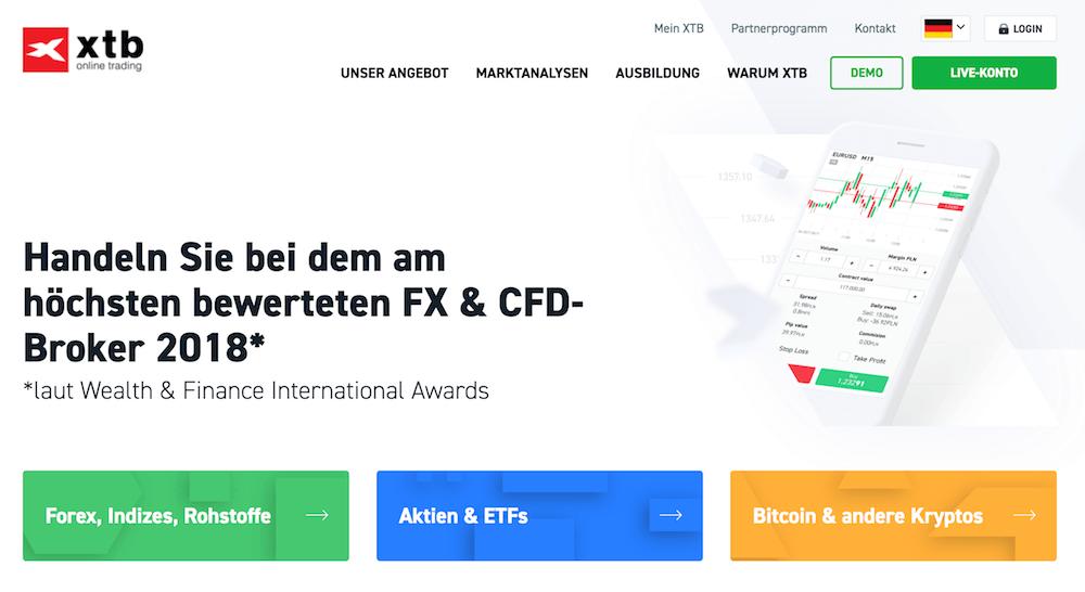 Mehrfach wurde der FX- und CFD-Handel der Plattform XTB bereits ausgezeichnet
