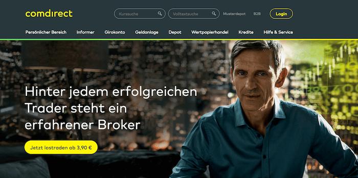 comdirect Homepage