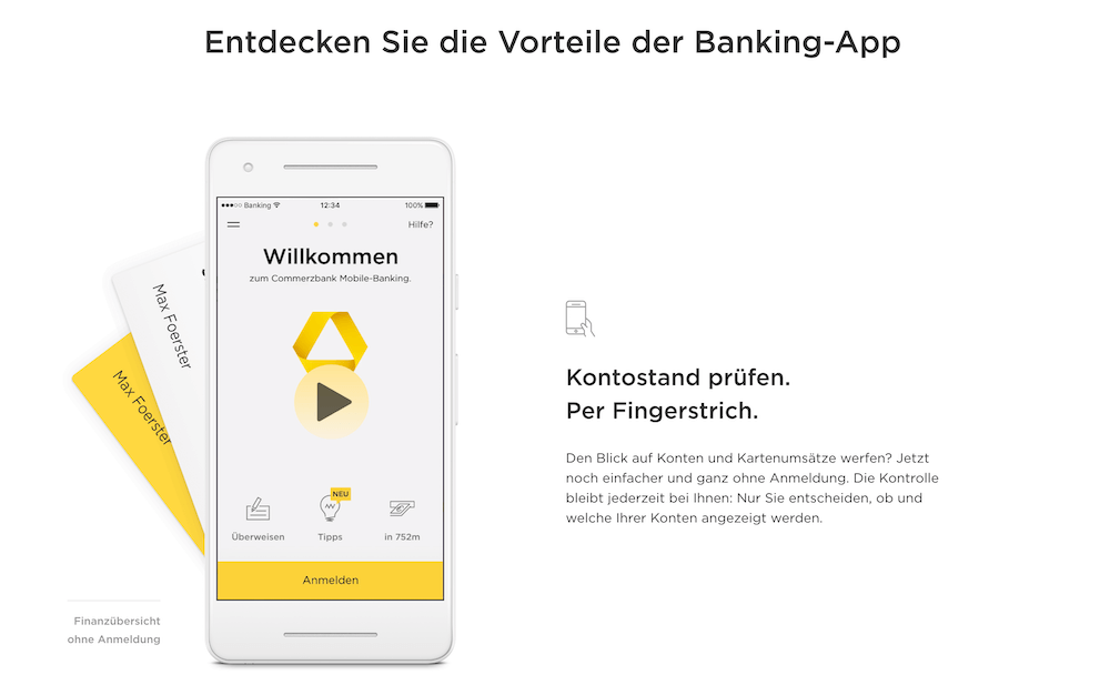 Commerzbank mobile Banking