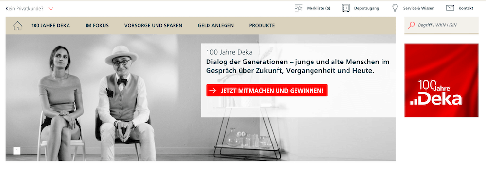 Deka Homepage