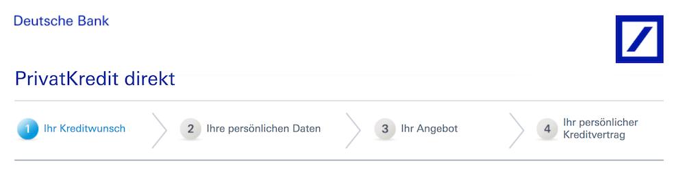 Deutschen Bank Kreditantrag