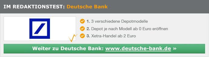Deutsche Bank Depot Erfahrungen