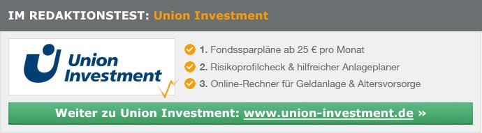 Union Investment Depot Erfahrungen