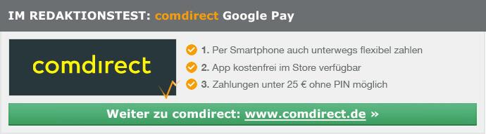 comdirect Google Pay