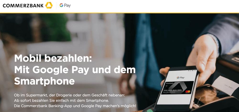 Google Pay Commerzbank Kreditkarte