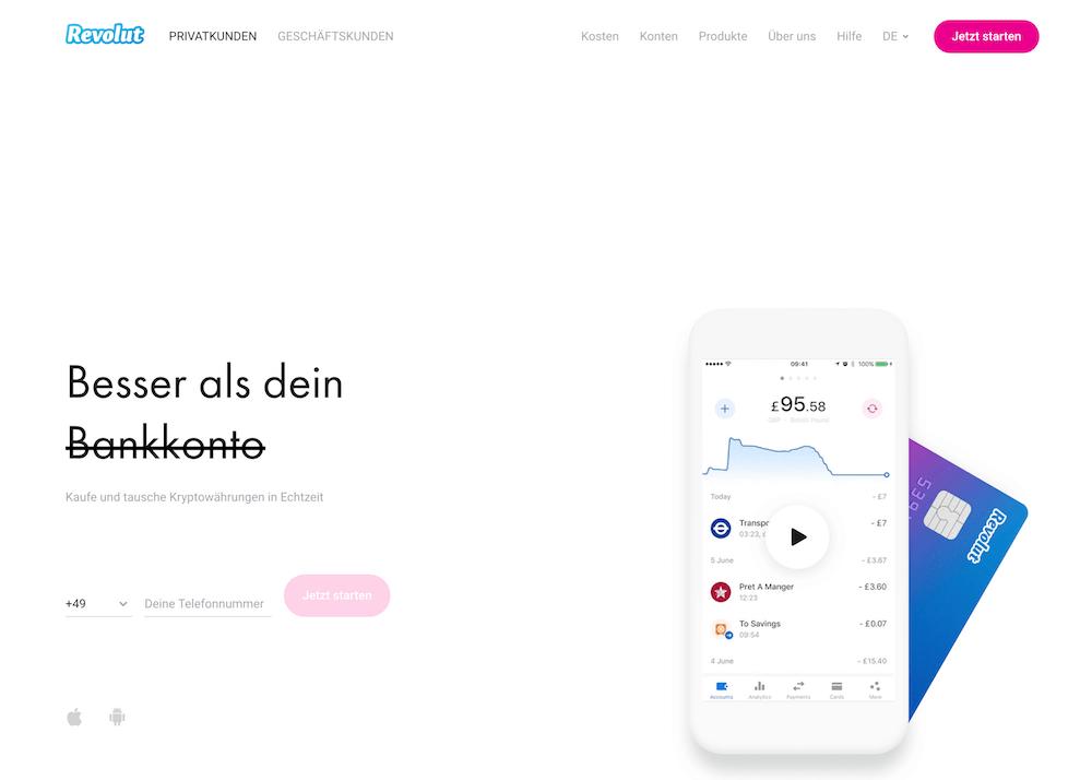 Revolut Homepage