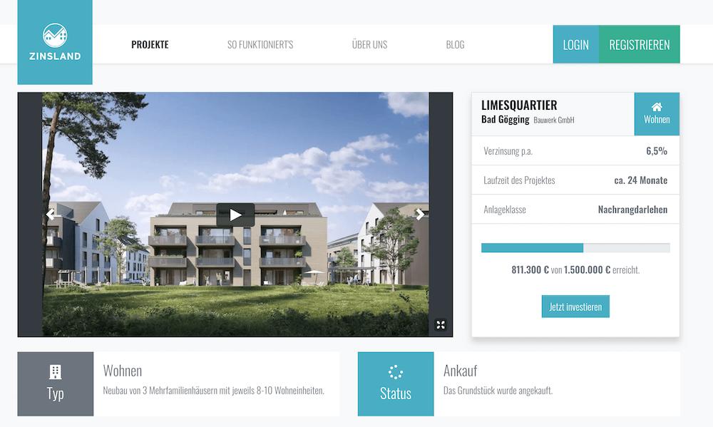 Zinsland Projektbeschreibung Limesquartier