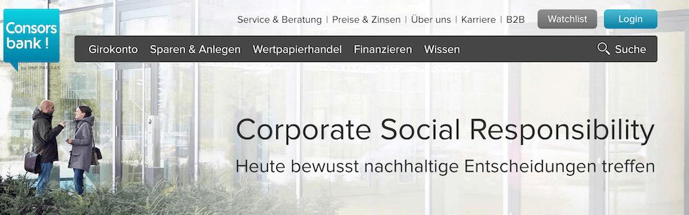 Consorsbank CSR
