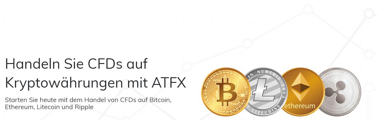 ATFX bietet CFDs auf Kryptowährungen
