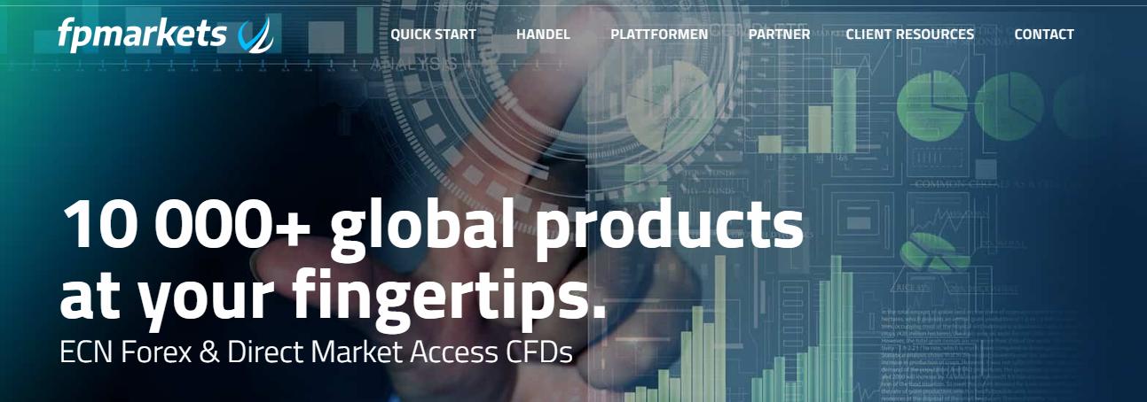 Bei FP Markets können Sie mit über 10.000 verschiedenen Produkten handeln