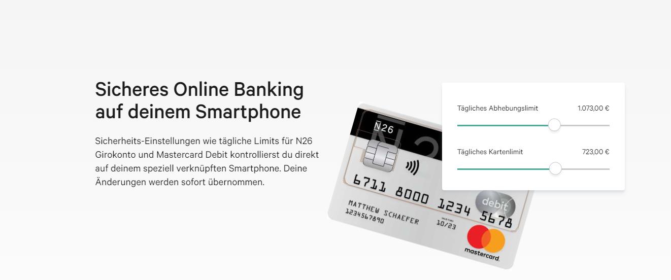 N26 bietet sicheres Online Banking