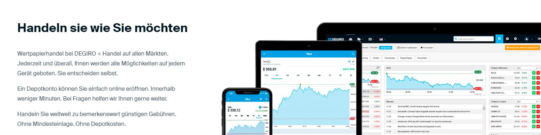 DEGIRO ermöglicht individuelles Trading