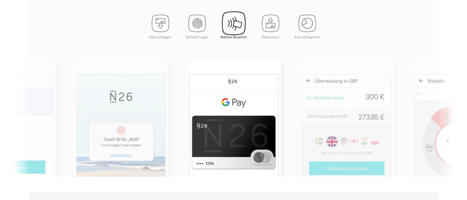 Sie können mit N26 auch Google Pay nutzen
