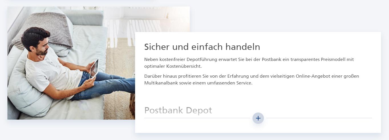 Sicher & einfach mit dem Postbank Depot handeln