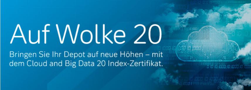 Die Deutsche Bank bietet das Big Data 20 Index-Zertifikat an