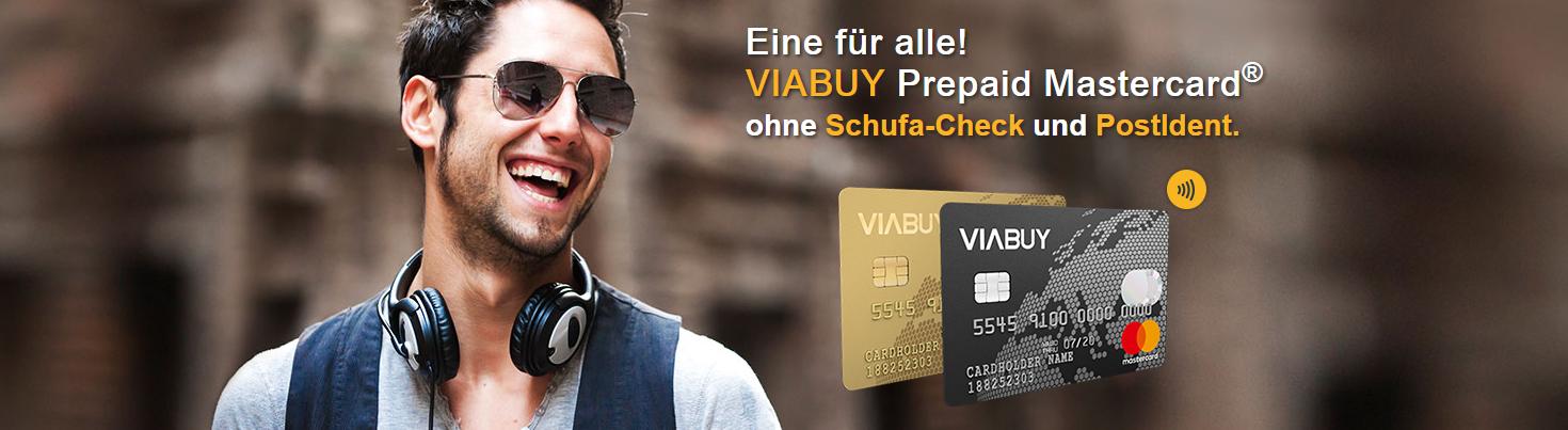 VIABUY bietet eine Prepaid Mastercard ohne Schufa & PostIdent an