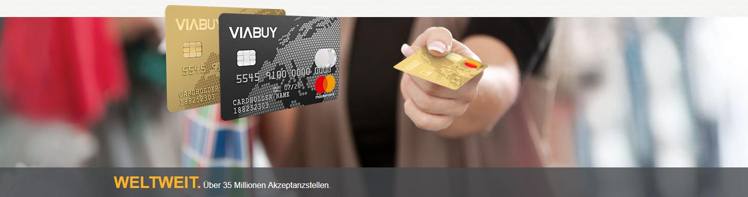 Die VIABUY Kreditkarte wird weltweit akzeptiert